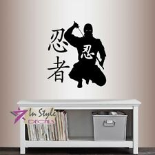 Martial Arts stickers Ninja evil silhouette Ninja weapons vinyl room decals