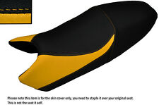 DESIGN 3 BLACK & YELLOW CUSTOM FITS DUCATI MONSTER UNTIL 2007 LEATHER SEAT COVER