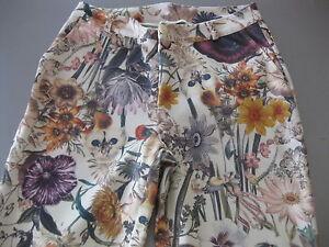 Damen-Hose-Gr-36-Blumenmuster-von-BC-Polyester-Elastan-wie-neu-warm-top