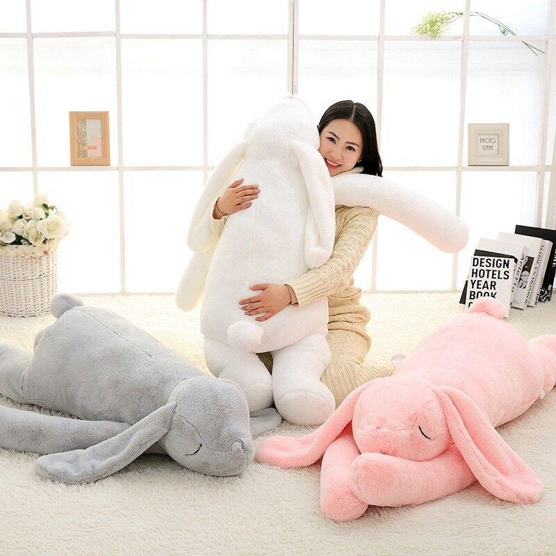Cuddly Cartoon Bunny Plush Toy Big Soft Animal Rabbit Doll Baby Girl Gift 120cm