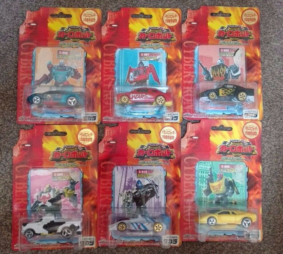 Transformers Takara Car Robots Spy Changers COMPLETE SET MOC Robots in Disguise