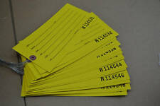Lot Of 50 Inventory Production Receiving Gaylord Weight Shipping Tags With Wires