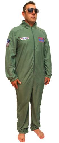 Details about  /Top Gun Costume Adult Maverick Flight Suit Mens Union Suit