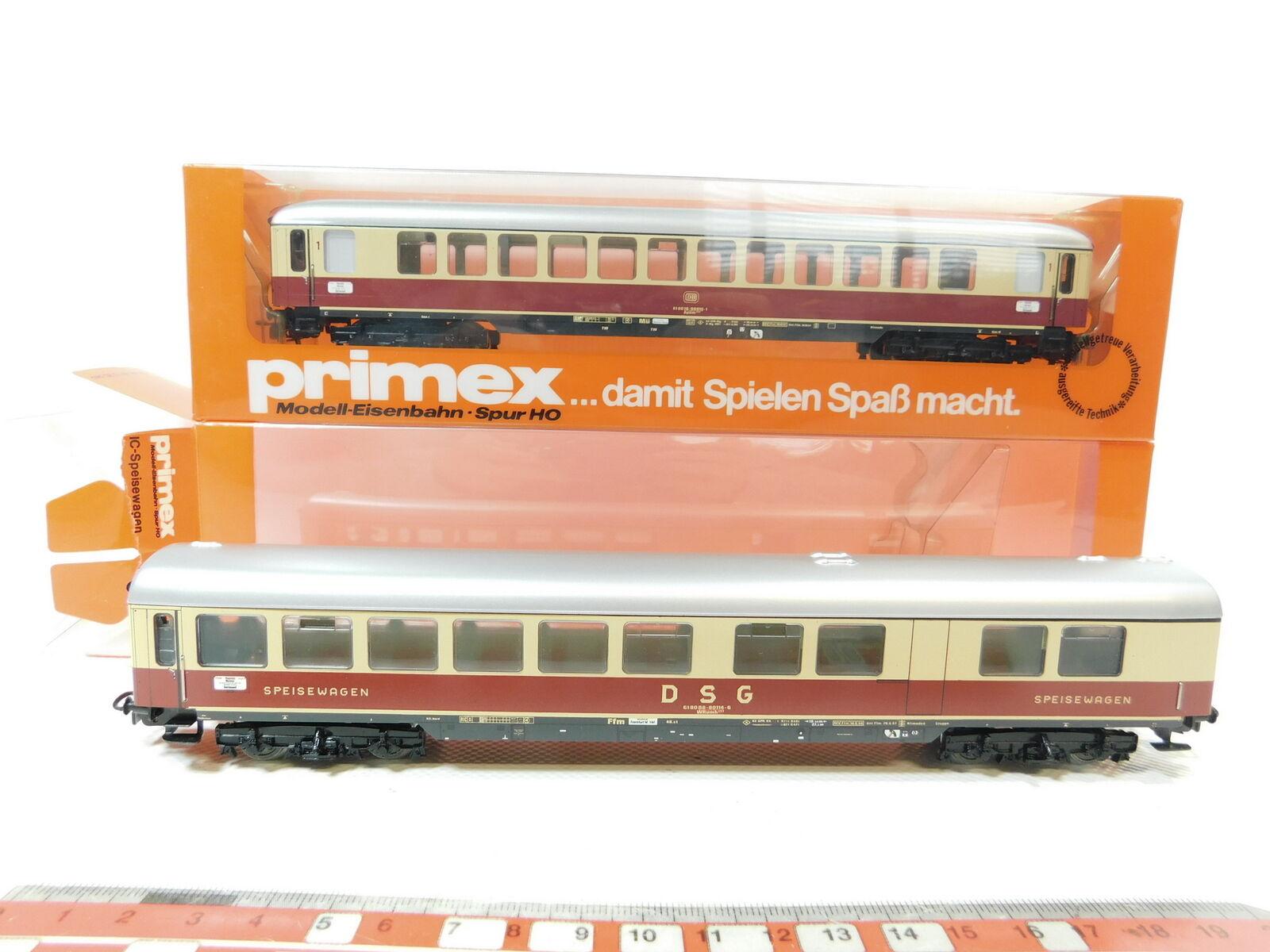 Bg141-1 X Primex Märklin H0 AC blech-ic-speisewagen etc.   4288 DB +4289 DSG