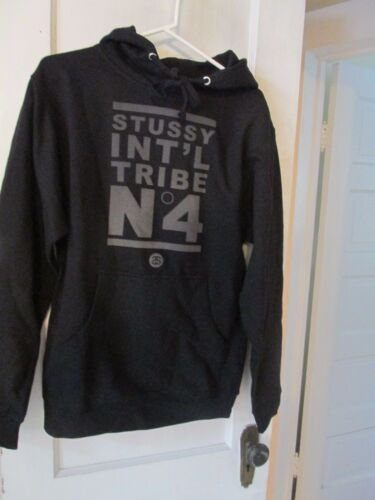 Stussy No 4 Hoodie Sweatshirt in Black Cotton from Urban Outfitters NWOT size S
