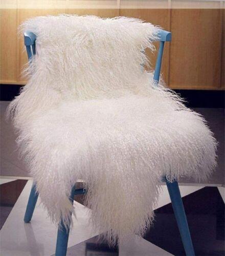 60X90CM 100/% Genuine Mongolian Sheepskin Lamb Wool Fur Rug Hide Pelt Plate Throw