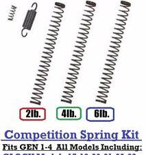 GLOCK 17, 19, 26 Upgraded Trigger Pull Spring Kit Gen1-4 - Competition 2lb-6lb