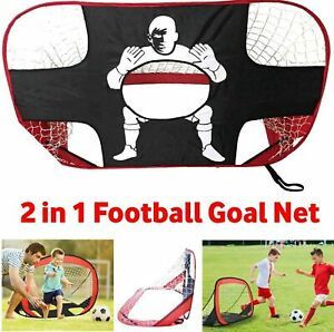640aa1b7a 2 IN 1 Football Foldable Training Net Soccer Kids Goal Mode Target ...