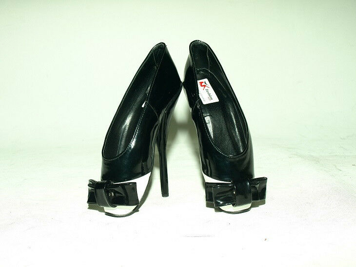 BLACK OR RED PATENT LEATHER LEATHER LEATHER BALLET PUMPS SIZE 6-16 HEELS-8,5'- PRODUCER- POLAND e6d1d7
