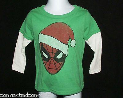 Christmas Marvel Spiderman Santa Infant/Toddler T-Shirt (SIZES 12 or 18 Months)