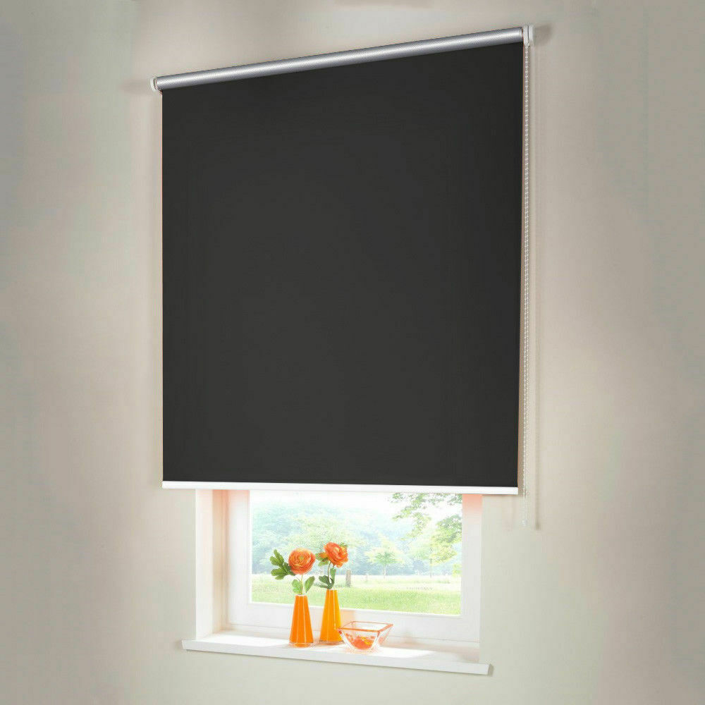Persiana para oscurecer Thermo seitenzug kettenzug persiana-altura 220 cm gris oscuro