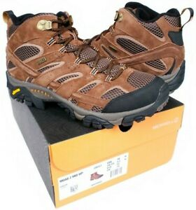 477c27043eb Details about Merrell Moab 2 Mid WP Hiking Boots Men's Size 10 M  Earth/Brown Suede Leather NEW