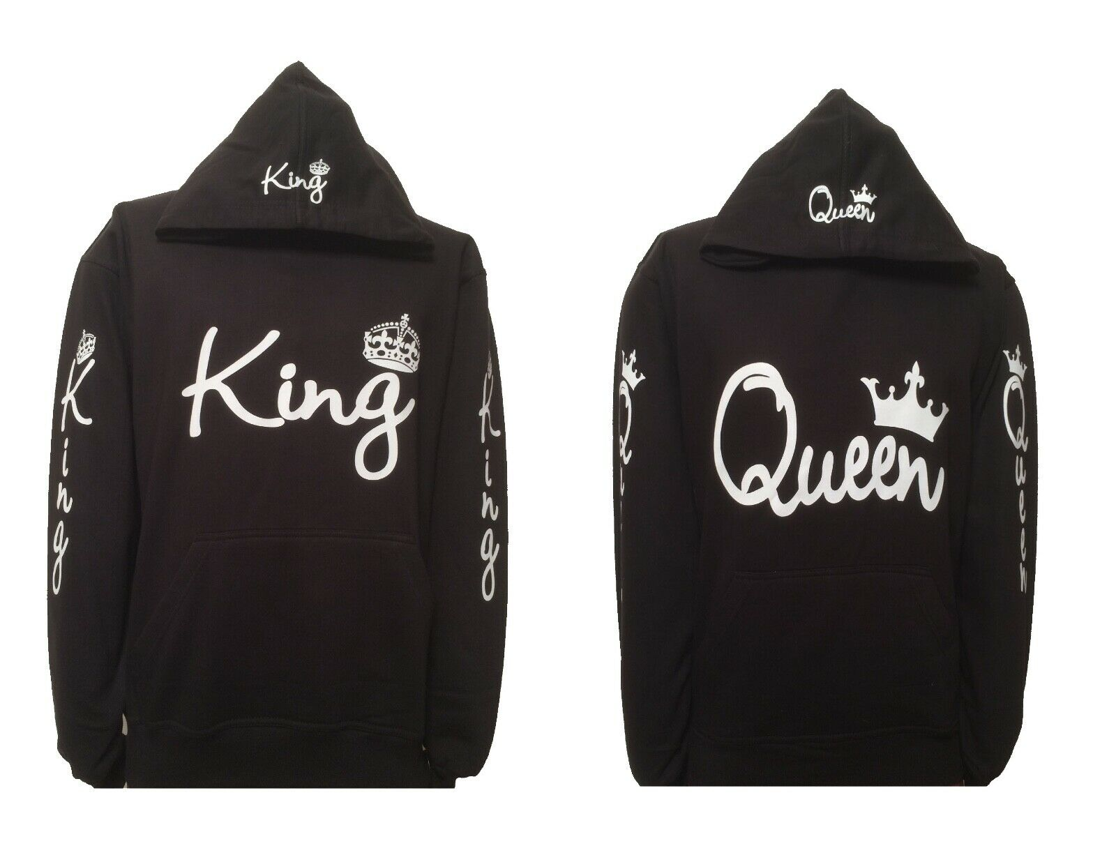 King and queen hoodies for a couple hooded sweatshirt adults+kids