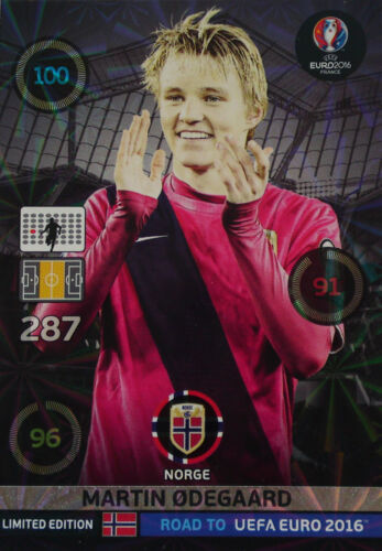 ROAD TO EURO UEFA 2016™ Adrenalyn XL™ Panini Limited Edition Martin Odegaard