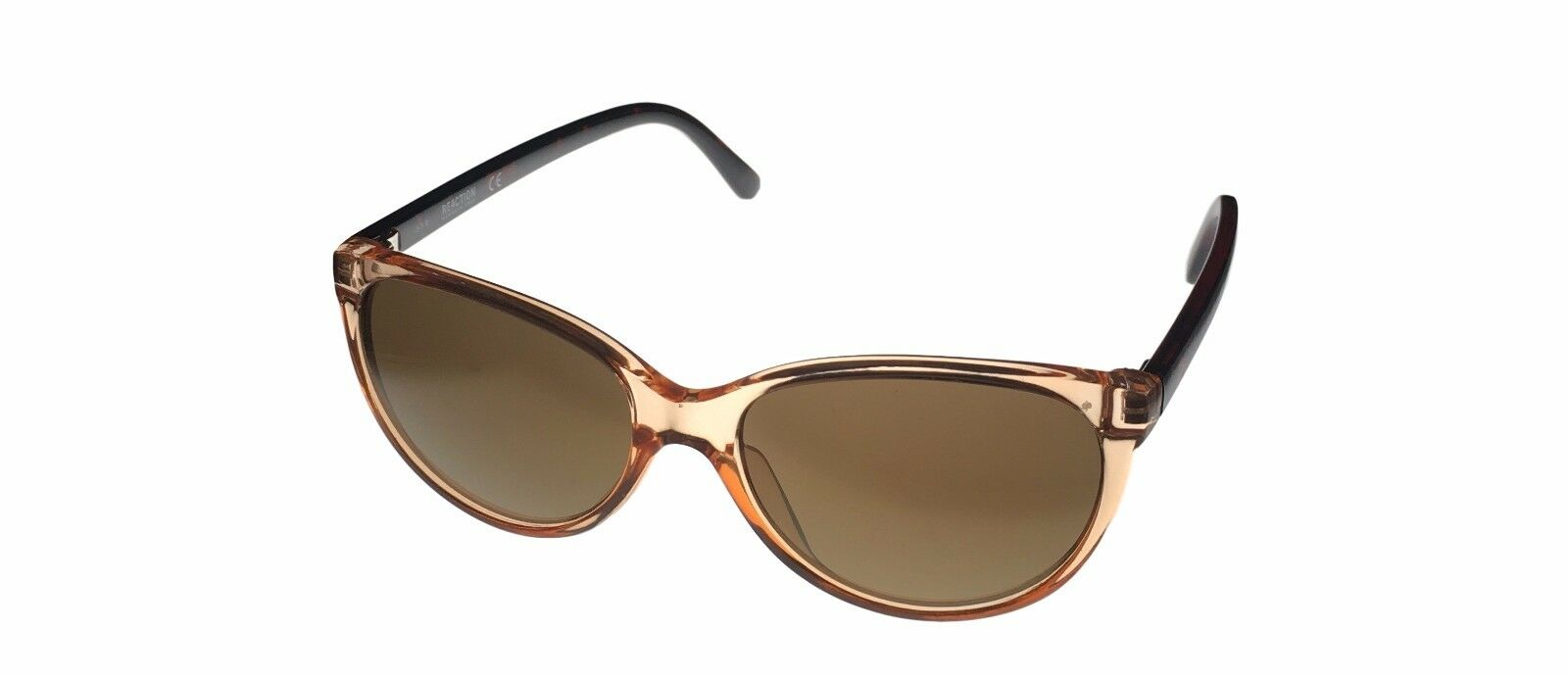Kenneth Cole Reaction Sunglass Round Crystal Champagne Plastic Mirror KC1271 45G