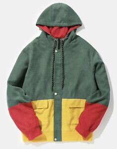 c5748cc5d Details about ZAFUL Women Teen Hooded Color Block Corduroy Jacket Long  Sleeve Oversized Coat