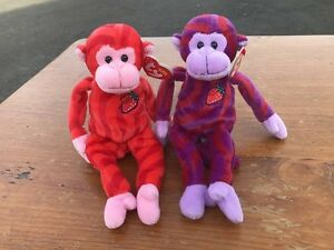 tY Twirly & Twisty TWIZZLERS Beanie Babies Lot of 2