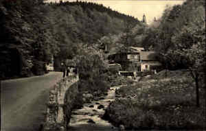 TRUSETAL-DDR-Postkarte-1960-Gasthaus-Pension-Wasserfall-Waterfall-River-Falls