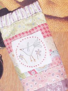 Little-Bird-Sunglasses-Case-stitchery-amp-pieced-PATTERN-Hatched-amp-Patched