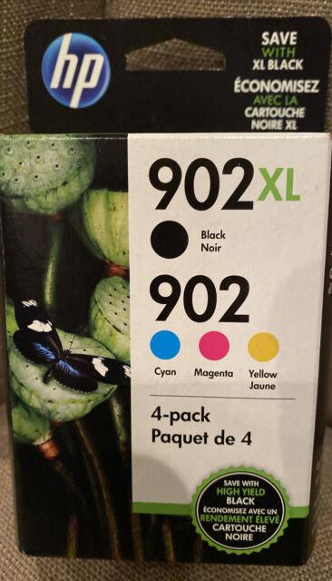 HP 902XL 902 Ink Cartridge -Genuine HP 4 Combo Pack Exp. 2022