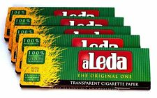 5 aLeda Booklets Transparent King Size Rolling Paper  - Total 200 Papers