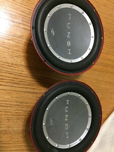 Pair-Old-School-Rockford-Fosgate-P2-Punch-10-034-Subwoofers-4-Ohms