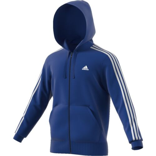 Adidas ESS 3 Stripes Full Zip Hood French Sports Jacket Sweat Jacket Jacket CD8720//K4