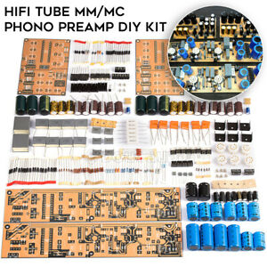 Hifi MM/MC Tube Phono Vorverstärker für Plattenspieler Do it Yourself Kit Stereo Audio preamplifier board