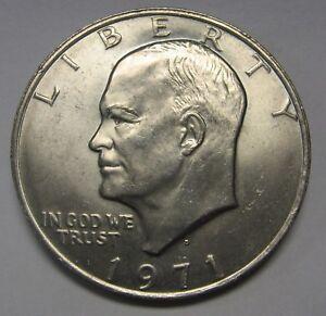 1971-D-Eisenhower-Ike-Dollar-Uncirculated-Condition-Nice-Higher-End-Coin-DUTCH