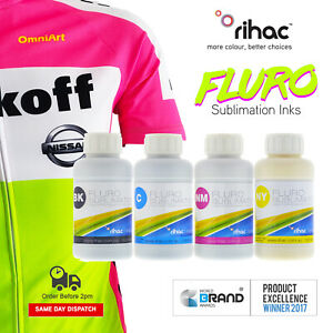 Fluroscent Sublimation Ink for Epson Brother CISS or Refillable Heat Transfer
