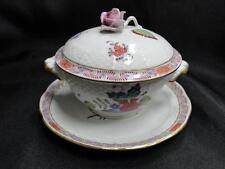 Herend Chinese Bouquet Multicolor AF: Cream Soup & Saucer with Lid Set (s) AS IS