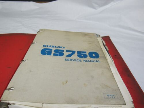 GENUINE 1980 Suzuki GS750 Dealer Service Manual SR-8010