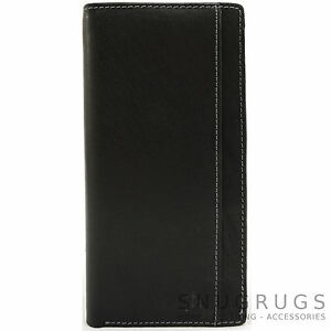 Mens-Super-Soft-100-Leather-Bi-Fold-Slim-Jacket-Wallet-RFID-Safe
