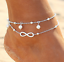 5Pcs Gold Silver Pearl Ankle Bracelet Women Anklet Chain Foot Summer Beach Gift