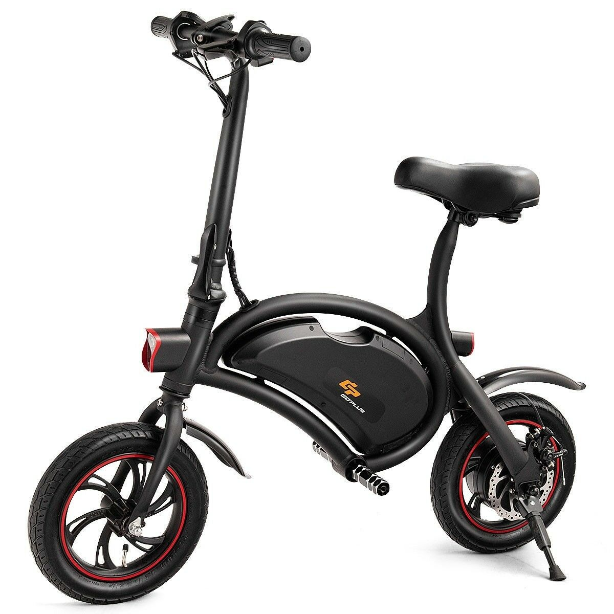 12  350W Portable Folding Electric Bicycle Bike EBike Cruise Control W Headlight