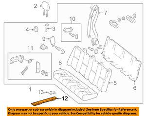 Mercedes Oem 10 17 Sprinter 2500 Rear Seat Seat Mount 0009500274 Ebay