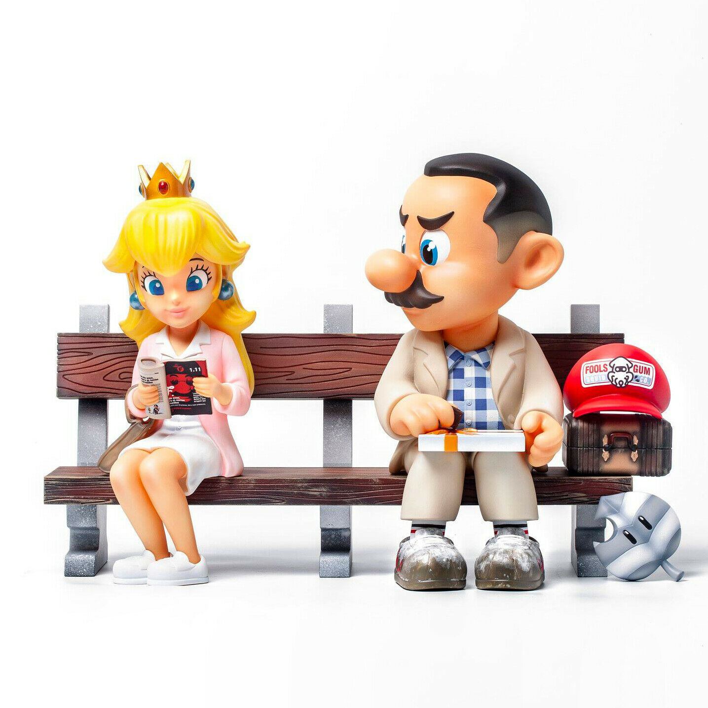 Fools Paradise Super Run Mario Forrest Gump 100% Designer Authentic Figure Toy