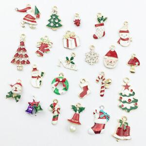 23pcs-Enamel-Alloy-Mixed-Christmas-Pendants-Charms-DIY-Gift-Jewellery-Making