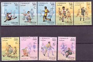 Somalia-MiNr-511-19-postfrisch-MNH-Fussball-WM-1994-Fuss709