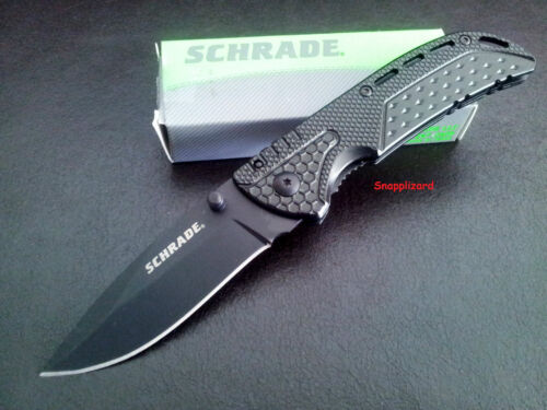 "Schrade 4.12"" Liner lock Drop Point Blade SCH212 Folding Pocket Knife"