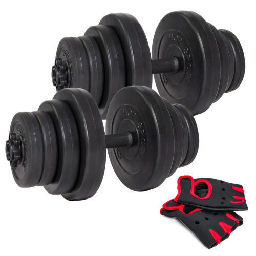 40kg 2x20 Kurzhanteln Hantel Set Hanteln Gewichte Hantelscheiben Kunststoff