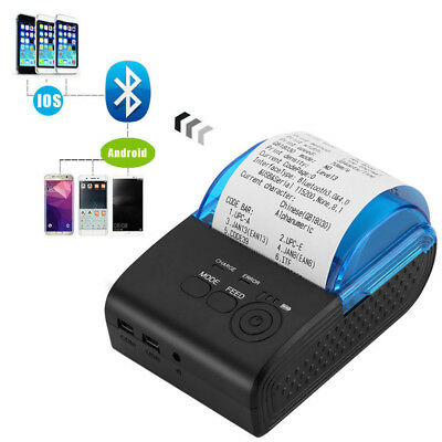 Portable Mini Wireless 58mm Bluetooth Thermal Receipt Printer for Android PC