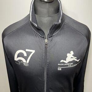 Polo Ralph Lauren RL67 0067 Vintage Black Zip Track Trackie Tracksuit Jacket L