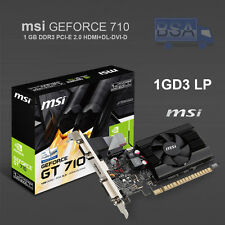 MSI NVIDIA GEFORCE GT710 1GB DDR3 PCI-E DVI HDMI VGA Ventilador 1GD3