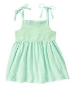 NWT Gymboree Girls Blue Safari Mint Green Smocked Top Size 5 6 8 /& 10