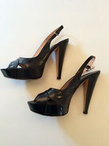 Sergio Rossi Woman Patent-leather Platform Sandals Black Size 36 Sergio Rossi a8Sfo8