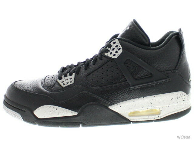 7c8ab05770 AIR JORDAN 4 RETRO LS OREO 314254-003 black tech grey-black Size 10 4  nwphjl7771-Athletic Shoes