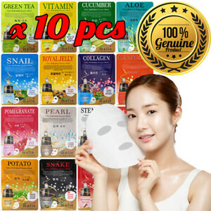 10pcs-Malie-Korean-Face-Mask-Sheet-Pack-Facial-Mask-Moisture-Skin-Care-K-Beauty