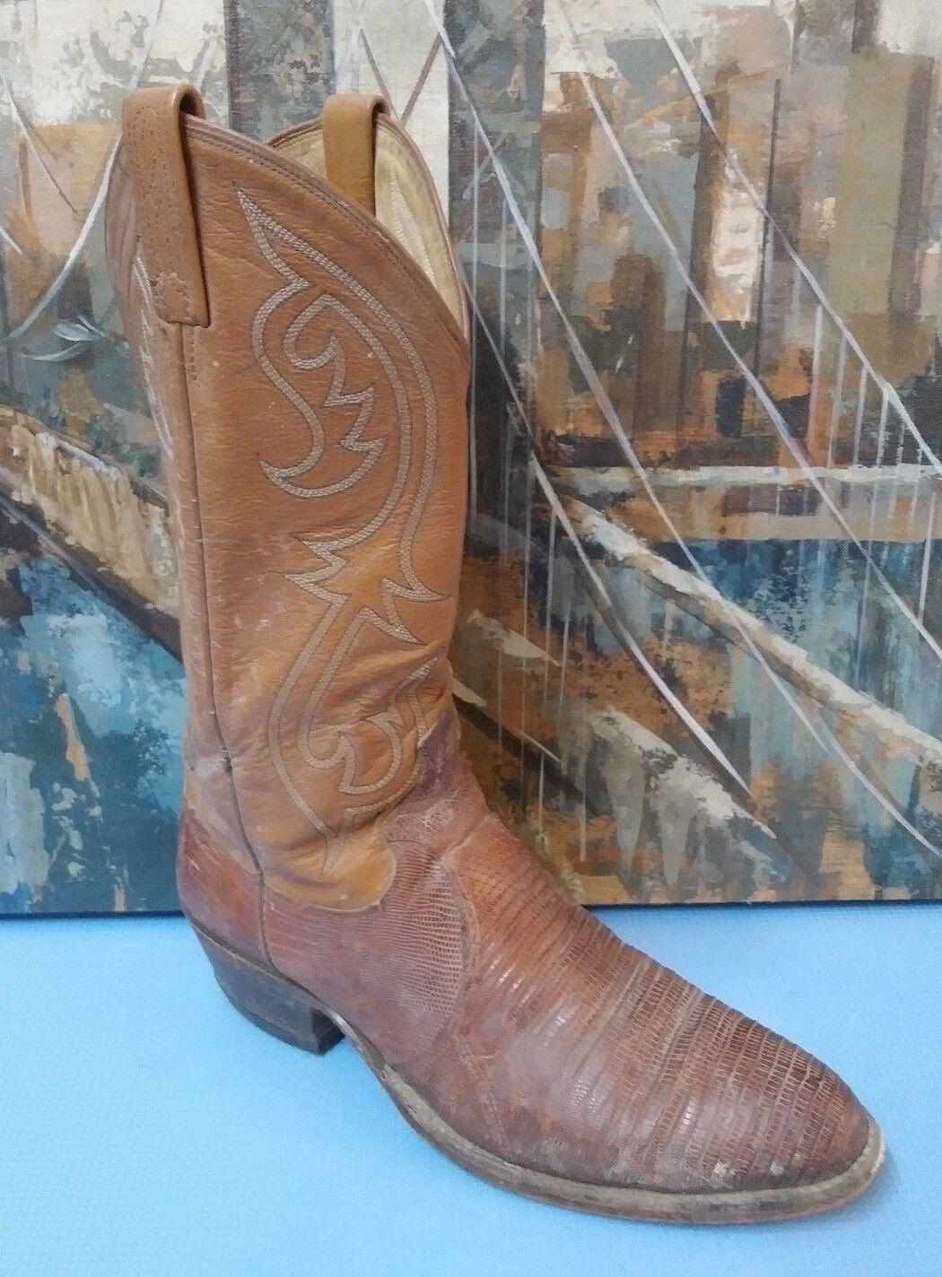 Dan Post  Pelle Exotic Lizard Mid Calf Cowboy Western Stivali Uomo 10