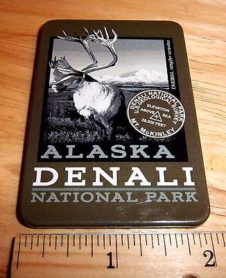 Alaska Magnet tinplate Denali National Park Homeland security Grizzlies Magnet